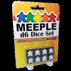 Meepl d6 Dice Set - Black