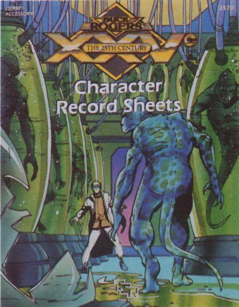 Buck Rogers XXVc - Character Record Sheets 3570