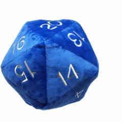 Jumbo D20 Novelty Dice Plush - Blue