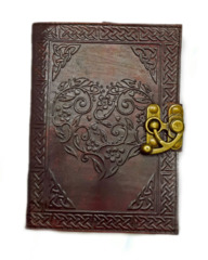 2938 - Celtic Heart Embossed Leather Journal