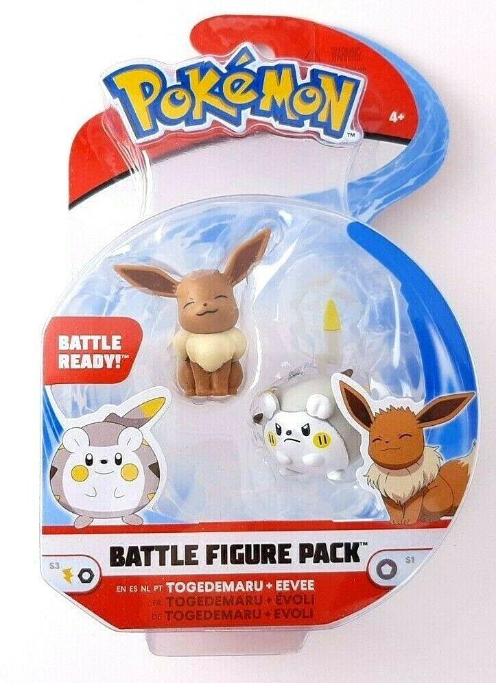 WCT Pokemon Battle Figure Pack - Togedemaru + Eevee