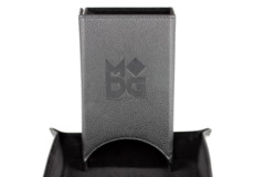 MDG Leather Folding Dice Tower Black