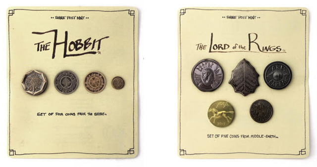 LOTR Middle Earth Set of Five Coins #1