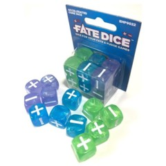Fate Dice - Aqua / Green / Lavender