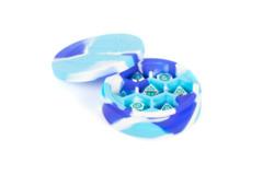 Silicone Round Dice Case - Blue/White/Light Blue