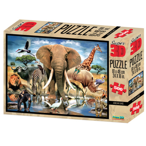 Super 3d Puzzle African Oasis Puzzles Toys The Days Of Knights
