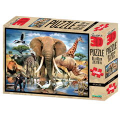 Super 3D Puzzle - African Oasis