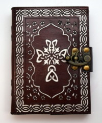 2882 - Leather Journal Celtic Cross