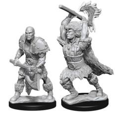 WZK 73833 - D&D Nolzur's Marvelous Unpainted Miniatures: Male Goliath Barbarian (2)