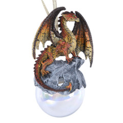 11460 - Checkmate Gray Dragon Ornament