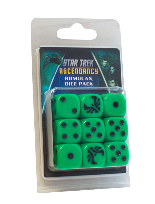 Star Trek: Ascendancy - D6 Dice Set - Romulan