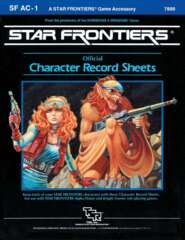 Star Frontiers SFAC1 - Official Character Record Sheets 7800