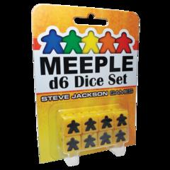 Meeple d6 Dice - Yellow