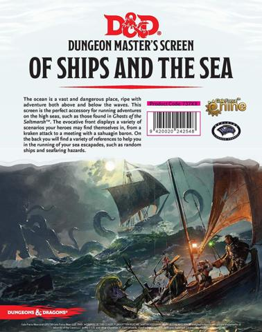 D&D 5E Dungeon Master's Screen - Of Ships and the Sea - RPG