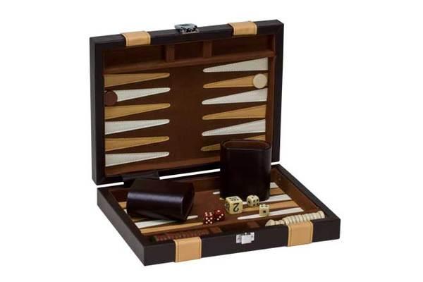 3046XS 9 Brown/ Tan Backgammon