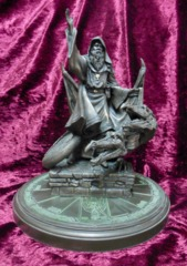 Merlin Avalon Magic of King Arthur Bronze Statue w/  Stand