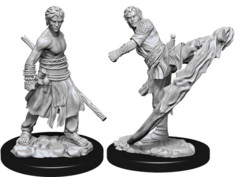 WZK 73838 - D&D Nolzur's Marvelous Unpainted Miniatures: Male Half-Elf Monk (2)