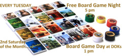 Board Games Day 2nd Sat. of Month