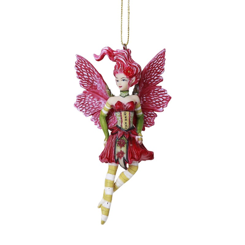12216 - Poinsettia Fairy Ornament