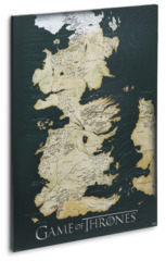 Game of Thrones Canvas Art Map