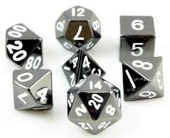 16mm Metal Polyhedral Dice Set - Sterling Gray