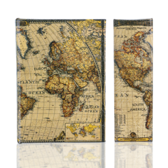 BK-100 World Map Book Box
