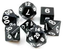16mm Metal Polyhedral Dice Set Black