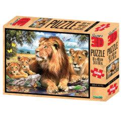 Super 3D Puzzle - Lions By the Pool