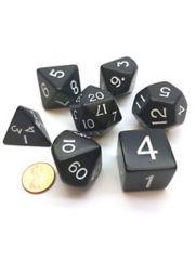 Jumbo 7-Piece Dice Set - Black