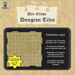 Dry Erase 10 inch Dungeon Tiles - Earthtone