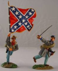 ACW57104 CONFEDERATE FLAG BEARER AND CHARGING OFFICER