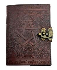 Pentagram Leather Embossed Journal 2642