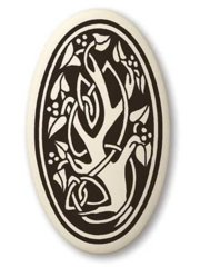 Celtic Sacred Tree Oval Pendant