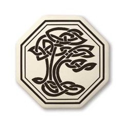 Celtic Sacred Tree Octagon Pendant