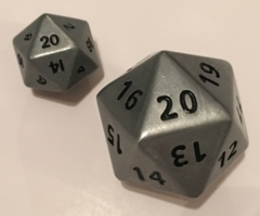 35mm Giant Antique Silver D20
