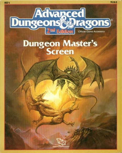 AD&D(2e) REF1 - Dungeon Master Screen (1989 Version) - 9263