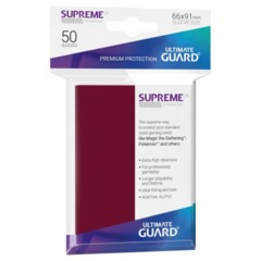 Ultimate Guard Supreme Sleeves Matte Burgundy