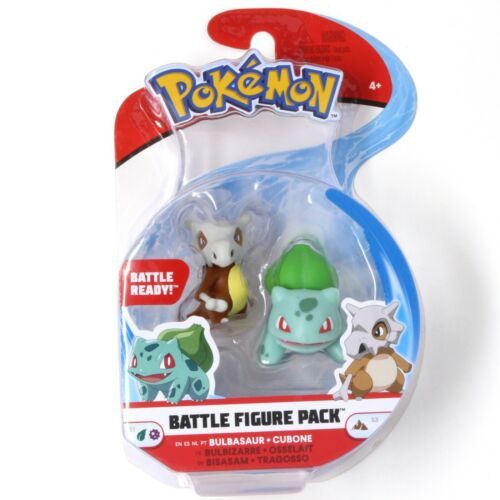 WCT Pokemon Battle Figure Pack - Bulbasaur + Cubone