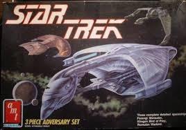 Star Trek (Next Gen) AMT 3 Piece Adversary Model Set - Klingon Bird