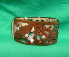 Nathan's Leatherworks Steampunk Bracelet (Open) NL03