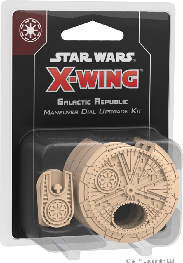 FFG SWZ36 - Star Wars X-Wing (2e) - Galactic Republic Maneuver Dial Upgrade Kit