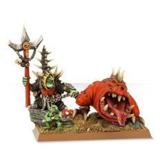 Age of Sigmar - Moonclan Warboss with Giant Cave Squig