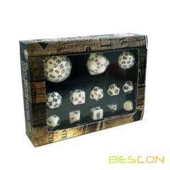 Bescon Complete Dice Set - White