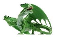 Gargantuan Green Dragon Pathfinder Battles: Legends of Golarion - No Box