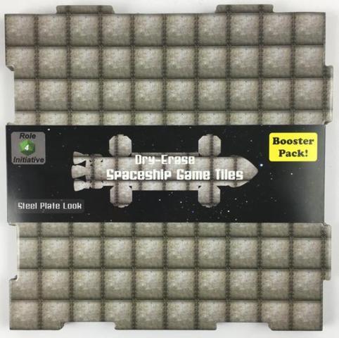 Dry Erase Dungeon Tiles Booster - Spaceship Steel Plate