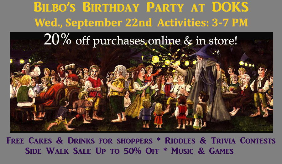 Bilbos Birthday Party on Sept. 22nd at DOKS
