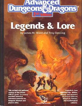 AD&D 2E - Legends & Lore 2108 HC