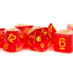 16mm Unicorn Dice: Red
