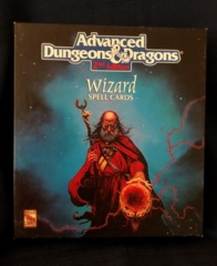 AD&D 2E Wizard Spell Cards TSR Boxed Card Set Near Mint