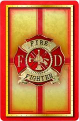 Firefighter Standard Index Playing Card Set